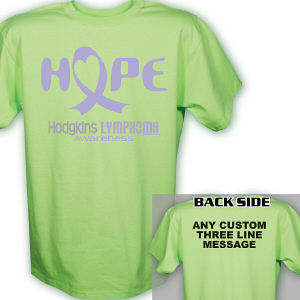 Hope Hodgkins Lymphoma Cancer Awareness T-Shirt